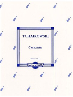 Tchaikovsky: Canzonetta (Viola/Piano) Books | Viola, Piano Accompaniment
