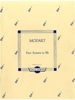 Mozart: Duo Sonata In B Flat K.292 Books | Viola