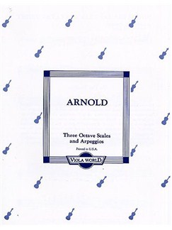 Alan Arnold: Three Octave Scales And Arpeggios For Viola Books | Viola, Piano Accompaniment