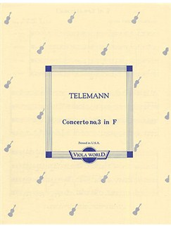 Georg Philipp Telemann: Concerto No.3 In F For 4 Violas (Score/Parts) Books | 4 Violas