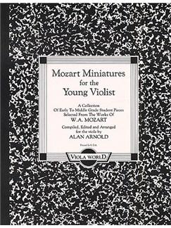 W.A. Mozart: Miniatures For The Young Violist Books | Viola, Piano Accompaniment