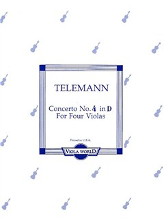 Georg Philipp Telemann: Concerto No.4 In D For Four Violas Books | Viola (Quartet)