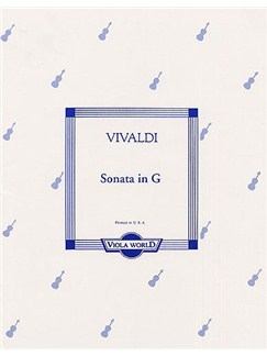 Antonio Vivaldi: Sonata In G Books | Viola, Piano Accompaniment