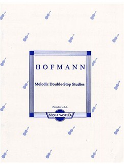 Richard Hofmann: Melodic Double-Stop Studies Op.96 (Viola) Books | Viola
