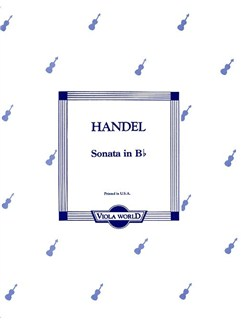 G.F. Handel: Sonata In B Flat (Viola) Books | Viola, Piano Accompaniment