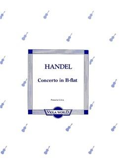 G.F. Handel: Concerto In B Flat (Viola/Piano) Books   Viola, Piano Accompaniment