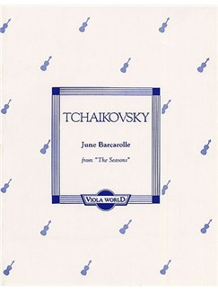 Tchaikovsky: June Barcarolle For Viola And Piano Books | Viola And Piano