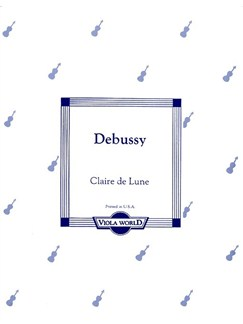 Claude Debussy: Clair De Lune (Viola) Books | Viola, Piano Accompaniment