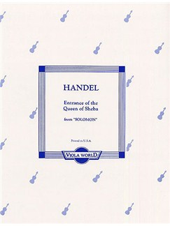 G.F. Handel: The Entrance Of The Queen Of Sheba (2 Violas) Books | Viola (Duet), Piano Accompaniment