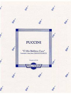 Puccini: O Mio Babbino Caro For Viola And Piano Books | Viola, Piano