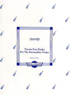 David: Twenty Four Etudes For The Intermediate Violist Books | Viola
