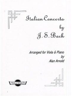 J.S. Bach: Italian Concerto BWV 971 (Viola) Books | Viola, Piano Accompaniment