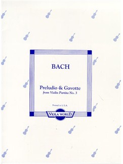 J.S. Bach: Preludio And Gavotte For Viola And Piano Books | Viola, Piano