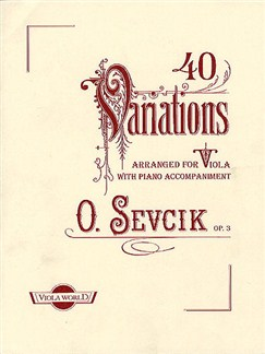 Otakar Sevcik: 40 Variations Op.3 Books | Viola, Piano Accompaniment