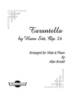Hans Sitt: Tarantella Op.26 No.12 Books | Viola, Piano Accompaniment