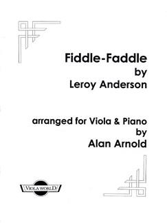 Leroy Anderson: Fiddle-Faddle (Viola/Piano) Books | Viola, Piano Accompaniment
