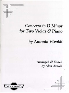 Antonio Vivaldi: Concerto In D Minor For Two Violas And Piano Books | Viola (Duet), Piano Accompaniment