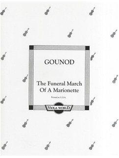 Charles Gounod: The Funeral March Of A Marionette (Viola/Piano) Books | Viola, Piano Accompaniment