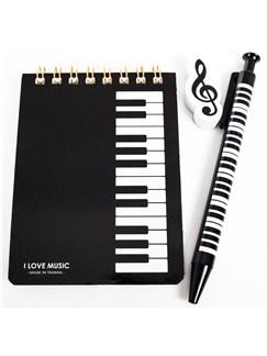 Kleines Schreibset – Schwarzes Tastaturdesign  |