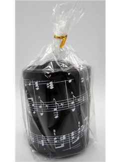 Music Notes Round Plastic Pen Holder  |
