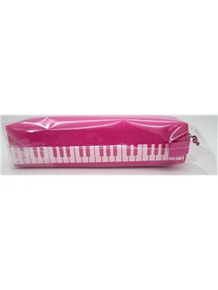 Pink Keyboard Design Pencil Case  |
