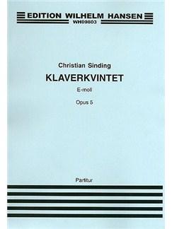 Christian Sinding: Quintet Op.5 (Score/Parts) Bog | Klaver Ensemble