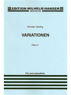 Christian Sinding: Variations For Two Pianos Op.2 (Score) Buch | Klavier (Duett)