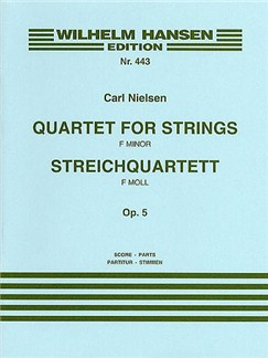 Carl Nielsen: String Quartet In F Minor Op.5 (Score/Parts) Books | String Quartet