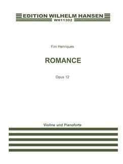 Fini Henriques: Romance Op. 12 - Version for Violin And Piano Books | Violin, Piano Accompaniment