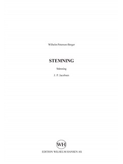 Wilhelm Peterson-Berger: Stemning (SATB Choral) Books | SATB