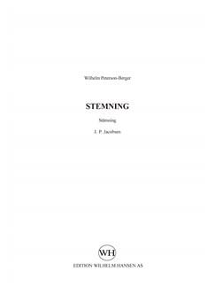 Wilhelm Peterson-Berger: Stemning (SATB Choral) Bog | SATB