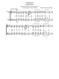 Wilhelm Peterson-Berger Pa Fjeldesti Op.11 No.4 Books | Soprano, Alto, Tenor, Bass