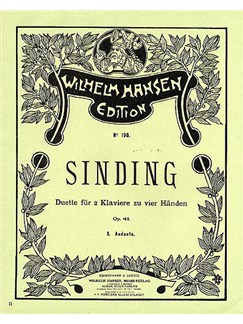 Christian Sinding: Andante Op.41 No.1 Books | Two Pianos