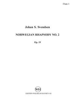 Johan S. Svendsen: Rapsodie Norvegiénne / Norwegian Rhapsody No.2 Op.19 (Score) Books | Orchestra