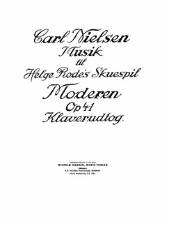 Carl Nielsen: Moderen (The Mother) Op.41 (Piano Score) Books | Voice, Piano Accompaniment