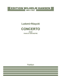 Ludomir Rózycki: Concerto Pour Piano (Score) Books | Orchestra, Piano