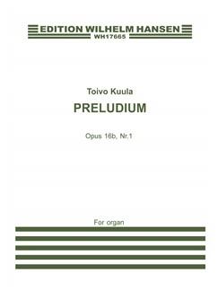 Toivo Kuula: Preludium Op.16b/No.1 (Organ Solo) Books | Organ
