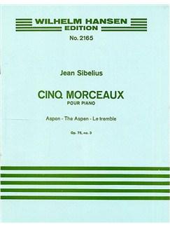 Jean Sibelius: The Aspen (Five Pieces Op.75 No.3) Books | Piano