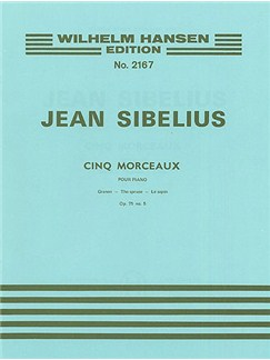 Jean Sibelius: The Spruce (Five Pieces- Op.75 No.5) Books | Piano