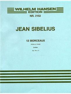Jean Sibelius: 13 Pieces Op.76 No.3 'Carillon' Books | Piano