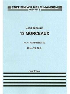 Jean Sibelius: 13 Pieces Op.76 No.6 'Romanzetta' Books | Piano