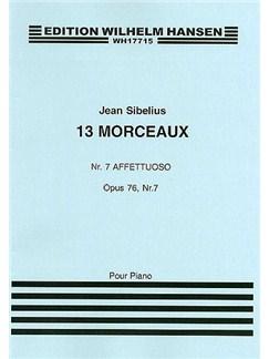 Jean Sibelius: 13 Pieces Op.76 No.7 'Affettuoso' Books | Piano