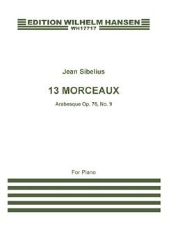 Jean Sibelius: 13 Pieces Op.76 No.9 'Arabesque' Books | Piano