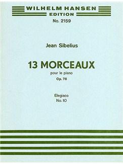Jean Sibelius: Elegiaco (13 Morceaux Op.76, No.10) Books | Piano