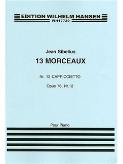 Jean Sibelius: 13 Pieces Op.76 No.12 'Capriccietto' Books | Piano