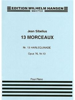Jean Sibelius: 13 Pieces Op.76 No.13 'Harlequinade' Books | Piano