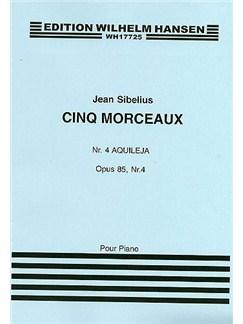 Jean Sibelius: Five Pieces Op.85 No.4 'Aquileja' Books | Piano