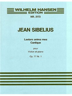 Jean Sibelius: Laetare Anima Mea Op.77 No.1 (Violin or Cello/Piano) Libro | Violín, Cello, Acompañamiento de Piano