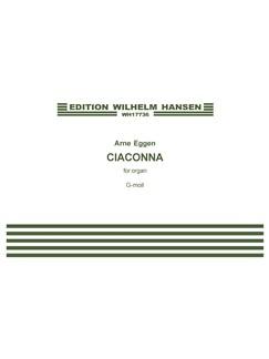 Arne Eggen: Ciaconna Bog | Orgel