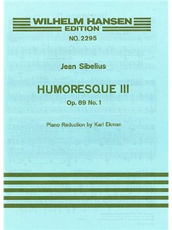 Jean Sibelius: Humoresque No.3 Op.89a (Violin/Piano) Books | Violin, Piano